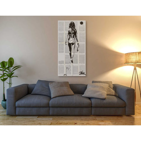 Image of 'Beachcomber' by Loui Jover, Canvas Wall Art,30 x 60