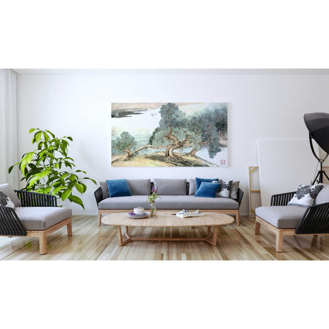 'A Stroll Along the Riverbank' by River Han, Giclee Canvas Wall Art
