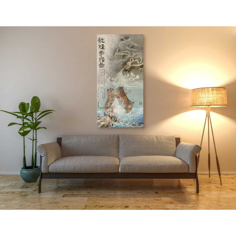 'Fly Like a Dragon, Jump Like a Tiger' by River Han, Giclee Canvas Wall Art