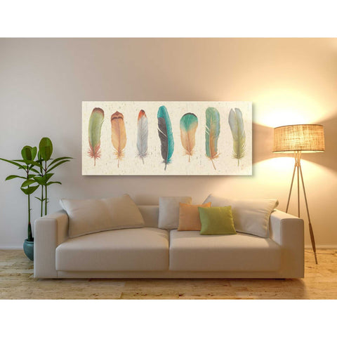 'Feather Tales VII' by Daphne Brissonet, Giclee Canvas Wall Art