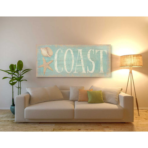 Image of 'Pastel Coast' by Daphne Brissonet, Giclee Canvas Wall Art