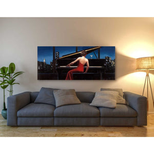 'Lady in Red' by Marco Fabiano, Giclee Canvas Wall Art