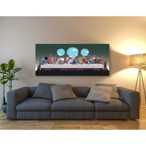 'The Cat's Last Supper' Giclee Canvas Wall Art
