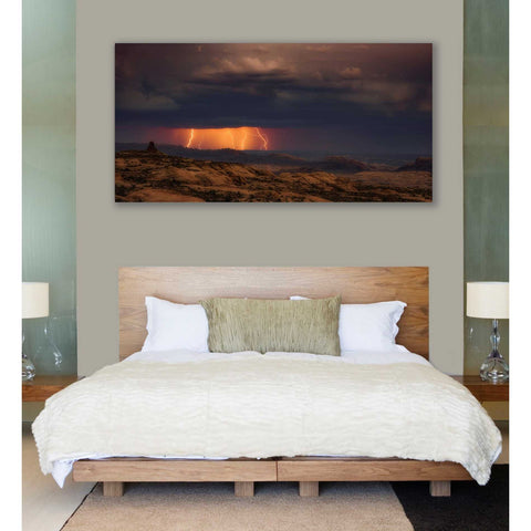 'Arches Light Snow' by Darren White, Canvas Wall Art,30 x 60