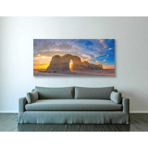 Image of 'Kansas Gold' by Darren White, Canvas Wall Art,30 x 60