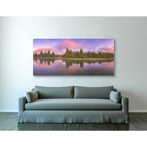 'Snake River Sunrise' by Darren White, Canvas Wall Art,30 x 60