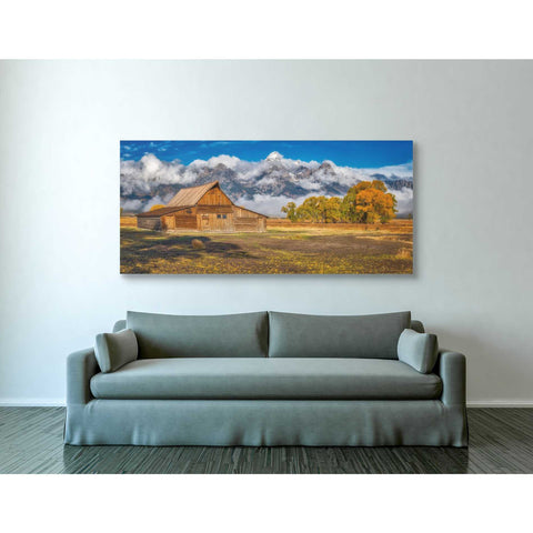'Warm Morning Light in the Tetons' by Darren White, Canvas Wall Art,30 x 60