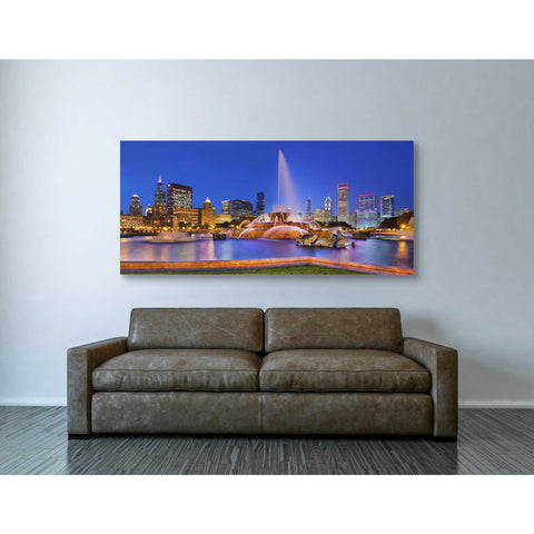 """Buckingham Fountain Pano,"" Giclee Canvas Wall Art"