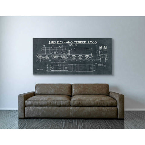 """Train Blueprint II"" by Wild Apple Portfolio, Giclee Canvas Wall Art"