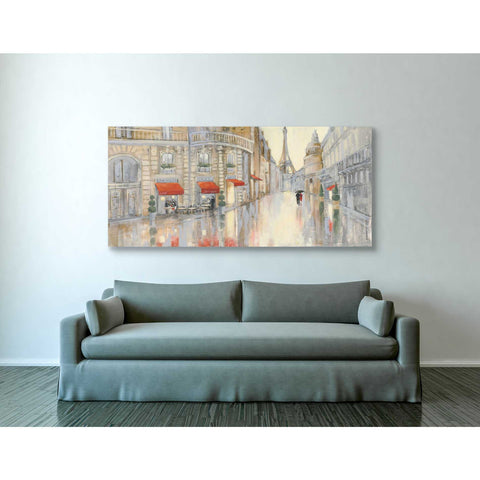 """Touring Paris Couple"" by Julia Purinton, Giclee Canvas Wall Art"