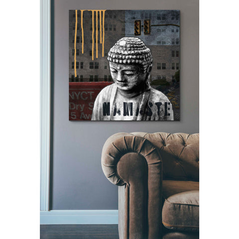 'Urban Buddha III' by Linda Woods, Canvas Wall Art,37 x 37