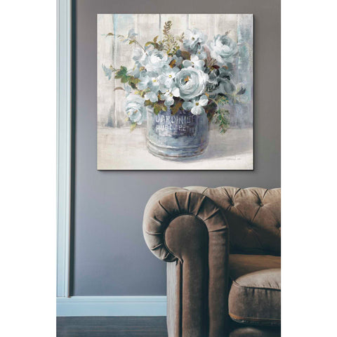 Image of 'Garden Blooms I Blue Crop' by Danhui Nai, Canvas Wall Art,37 x 37