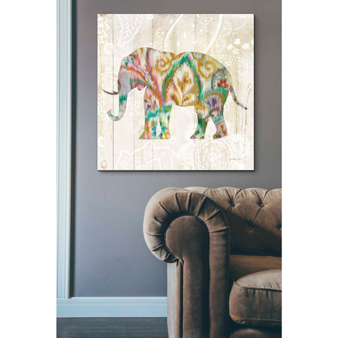 Image of 'Boho Paisley Elephant II v2' by Danhui Nai, Canvas Wall Art,37 x 37