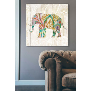 'Boho Paisley Elephant II v2' by Danhui Nai, Canvas Wall Art,37 x 37
