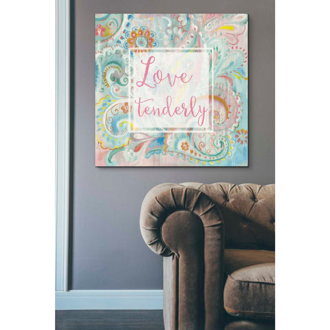 """Spring Dream Paisley III Pink Sentiment"" by Danhui Nai, Giclee Canvas Wall Art"