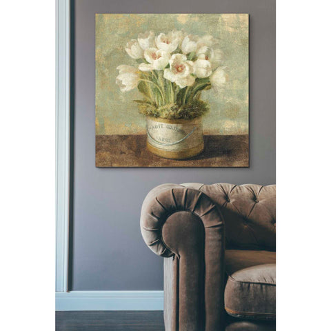 Image of 'Hatbox Tulips' by Danhui Nai, Canvas Wall Art,37 x 37