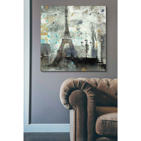 'Eiffel Tower Neutral' by Albena Hristova, Canvas Wall Art,37 x 37