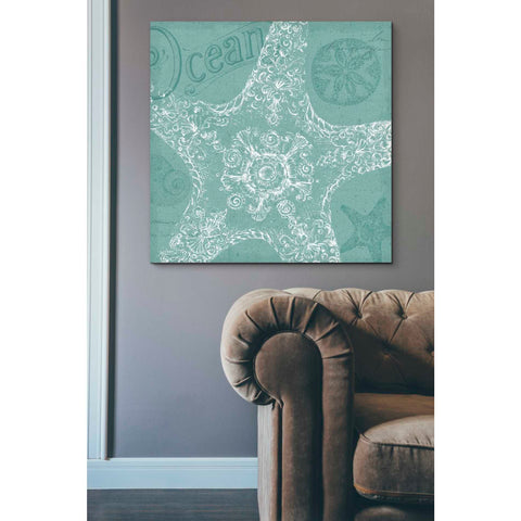 'Aqua Treasure I' by Daphne Brissonet, Giclee Canvas Wall Art