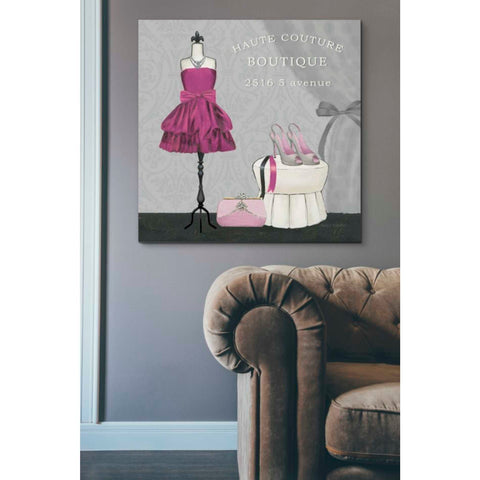'Dress Fitting Boutique Sq II' by Marco Fabiano, Giclee Canvas Wall Art
