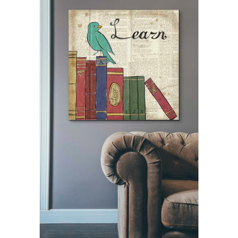Image of 'Bird Inspiration Learn' by Elyse DeNeige, Giclee Canvas Wall Art