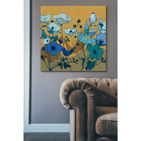 'Birdy Birdy Royal Blue' by Shirley Novak, Giclee Canvas Wall Art