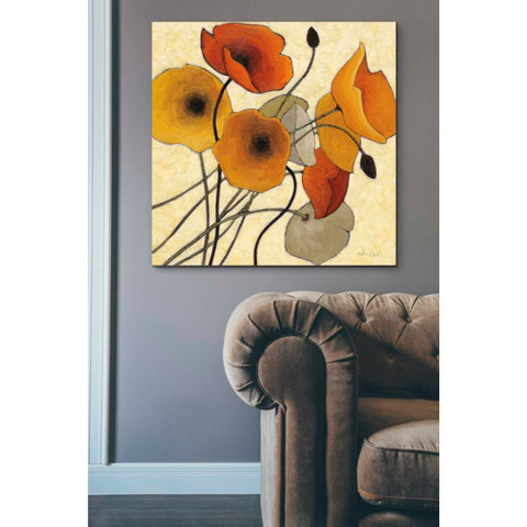'Pumpkin Poppies II' by Shirley Novak, Giclee Canvas Wall Art
