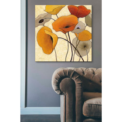 'Pumpkin Poppies III' by Shirley Novak, Giclee Canvas Wall Art