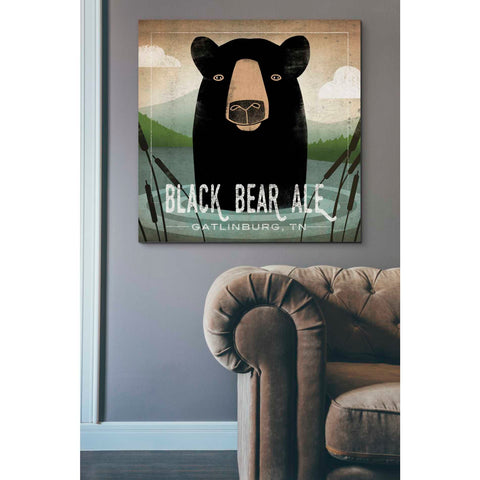 'Skinny Dip Black Bear Ale' by Ryan Fowler, Giclee Canvas Wall Art
