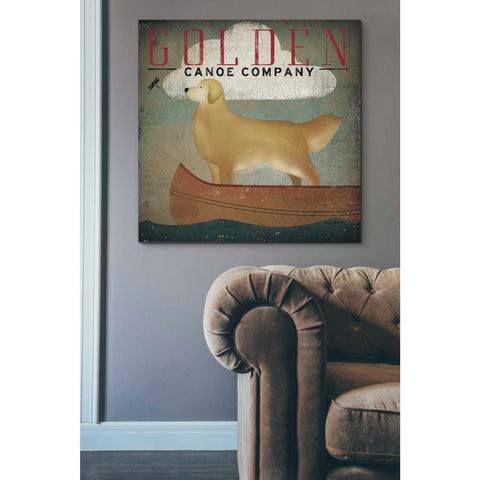 'Golden Dog Canoe Co' by Ryan Fowler, Giclee Canvas Wall Art
