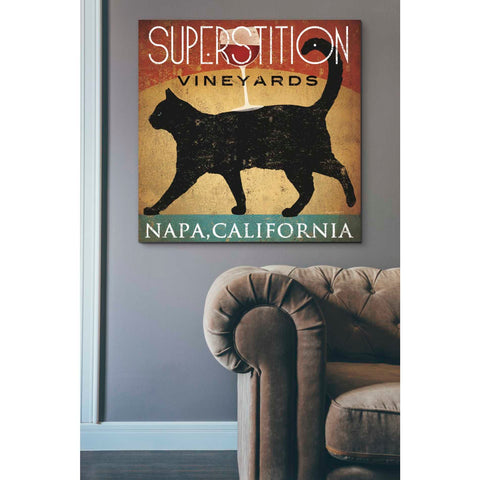 'Superstition Vineyards Cat' by Ryan Fowler, Giclee Canvas Wall Art