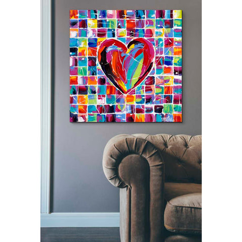 'Hearts of a Different Color II' by Carolee Vitaletti Giclee Canvas Wall Art