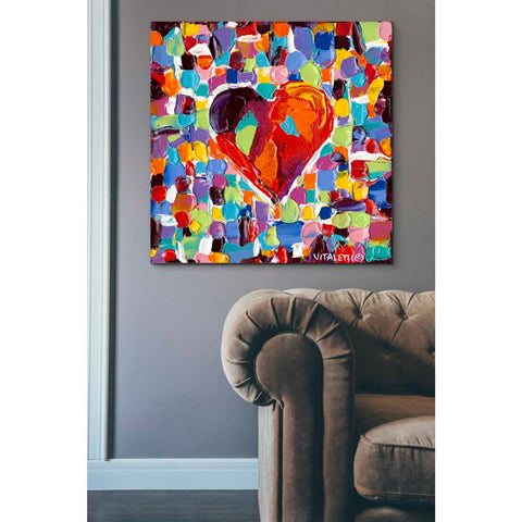 Image of 'Mosaic Heart III' by Carolee Vitaletti Giclee Canvas Wall Art