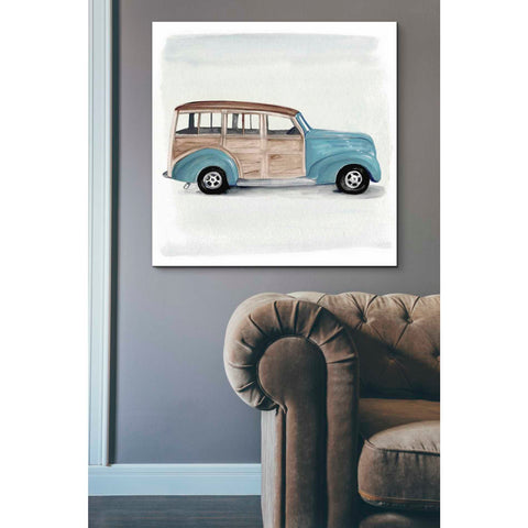 'Classic Autos IV' by Jennifer Paxton Giclee Canvas Wall Art