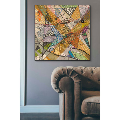 'Modern Map of D.C.' by Nikki Galapon Giclee Canvas Wall Art