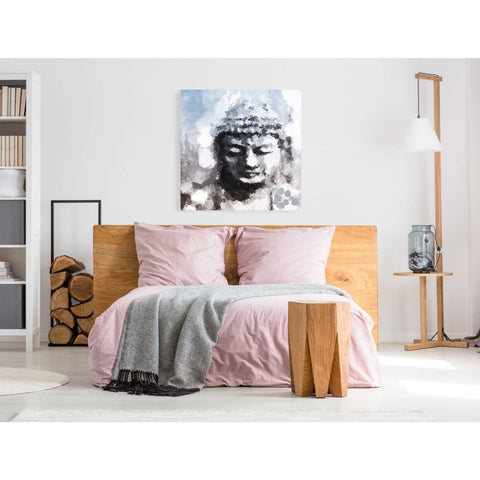 'Peaceful Buddha I' by Linda Woods, Giclee Canvas Wall Art