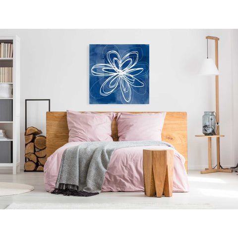 'Painted Sky Flower' by Linda Woods, Canvas Wall Art,37 x 37