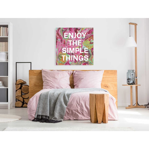 'Enjoy The Simple Things' by Linda Woods, Canvas Wall Art,37 x 37