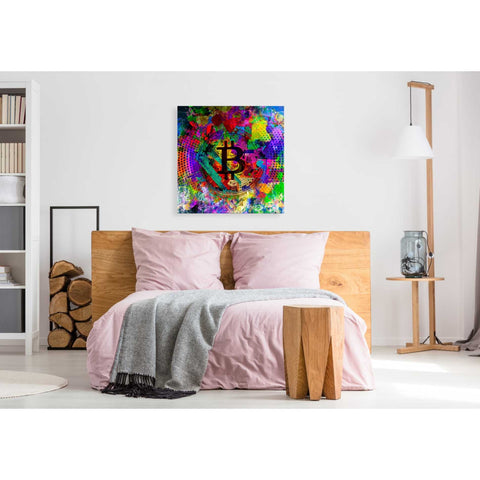 'Bitcoin Color' Giclee Canvas Wall Art