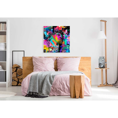'Michelangelo's David Color' Canvas Wall Art,37 x 37