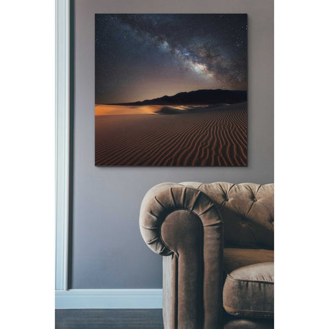 'Milky Way Over Mesquite Dunes' by Darren White, Canvas Wall Art,37 x 37
