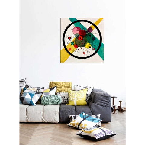 "'Circles In A Circle' by Wassily Kandinsky Canvas Wall Art"",40 x 40"