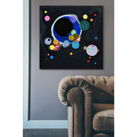 Image of 'Several Circles' by Wassily Kandinsky Canvas Wall Art,40 x 40