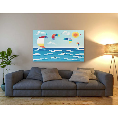 Image of 'Kites Dance' by Antony Squizzato, Giclee Canvas Wall Art