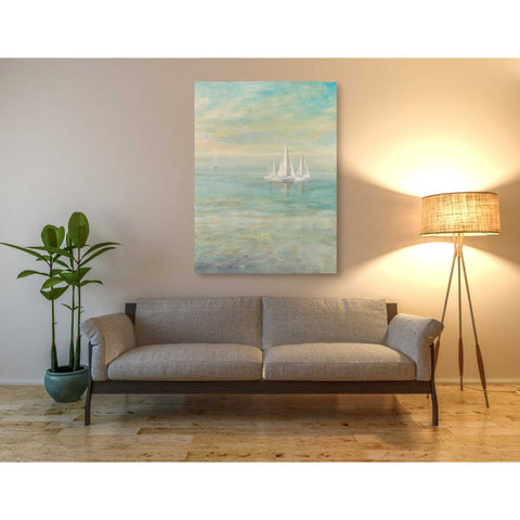 'Sunrise Sailboats II' by Danhui Nai, Giclee Canvas Wall Art