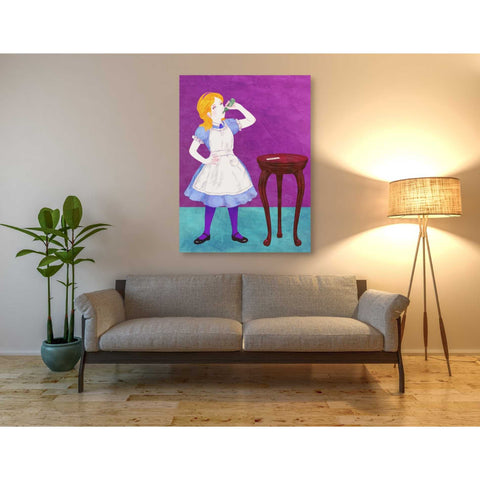 'Alice Drinking Medicine' by Sai Tamiya, Giclee Canvas Wall Art