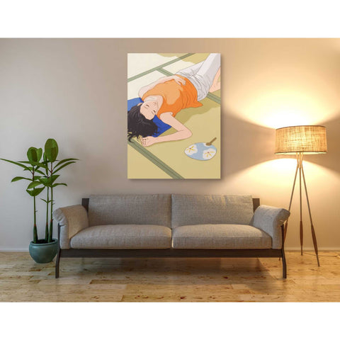 'Sleeping Woman' by Sai Tamiya, Giclee Canvas Wall Art
