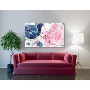 'Fireworks Abstract Navy Blue Flower Crop' by Albena Hristova, Canvas Wall Art,54 x 40