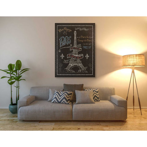 Image of 'Travel to Paris I' by Daphne Brissonet, Giclee Canvas Wall Art