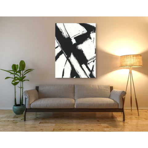 'Expression Abstract I White Crop' by Shirley Novak, Giclee Canvas Wall Art