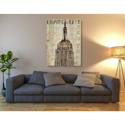 'Vintage NY Empire State Building' by Michael Mullan, Canvas Wall Art,40 x 54